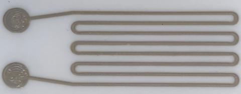 poliuretano e argento estensimetro
